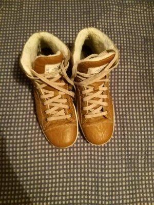 Rieker Aanrijg laarzen goud-cognac