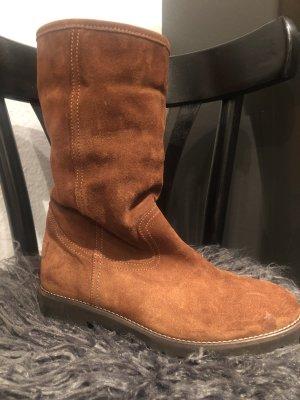 Alpe Bottes d'hiver brun cuir