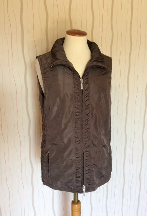 Erfo Reversible Vest black brown-taupe