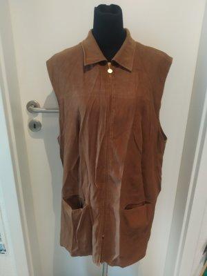 Braune Weste / ärmellose Jacke von tru in Größe 48