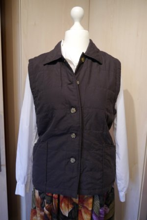 Vintage Quilted Gilet bronze-colored-black brown