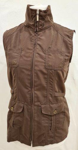 Malva Biker Vest brown polyester