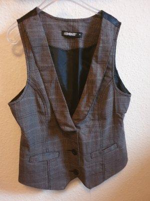 1982 Chaleco de vestir negro-marrón
