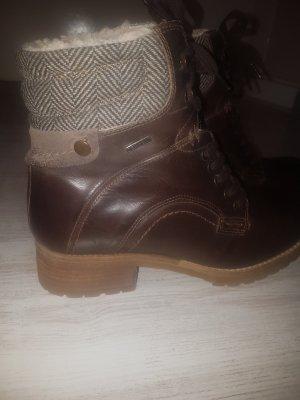 Vintage Aanrijg laarzen bruin-donkerbruin