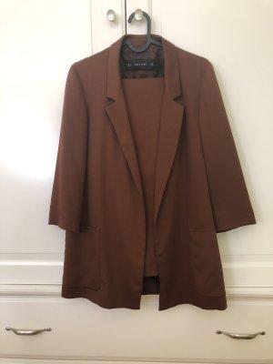 Zara Basic Traje de negocios marrón