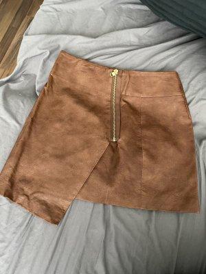 H&M Spódnica z imitacji skóry brązowy
