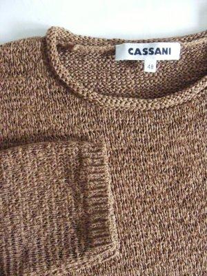 Cassani Gebreide trui bruin Polyester
