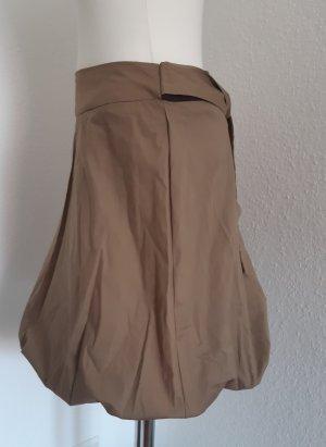 Falda globo marrón grisáceo