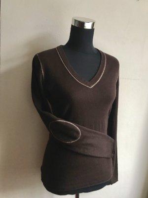 Tommy Hilfiger V-Neck Sweater black brown-brown