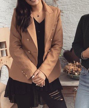 Brauner Blazer mit Goldknöpfen S
