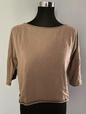 Brauner Cropped Pullover von Zara, Gr. M