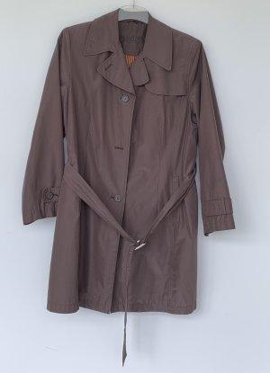 Authentic Krótki płaszcz brązowy-ciemnobrązowy Poliester