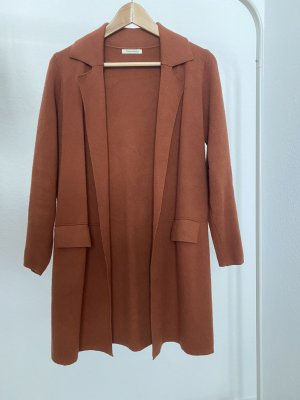 Vintage Dressing Knitted Coat cognac-coloured