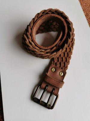 brauner geflochtener Leder Gürtel - Polo Ralph Lauren