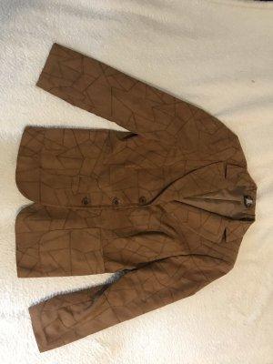Madeleine Leren blazer bruin-cognac