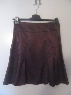 Orsay Asymetryczna spódniczka ciemnobrązowy