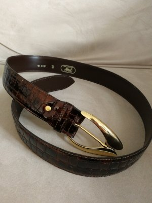 Made in Italy Leather Belt brown-dark brown