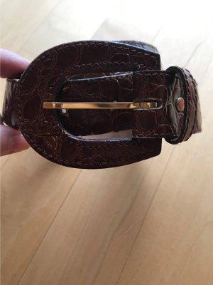 Scarabäus Lederen riem bruin