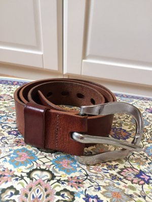 Closed Leather Belt brown-brown red
