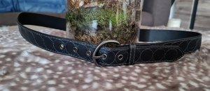 C&A Cinturón de cuero de imitación marrón oscuro