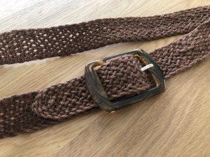 Pieces Braided Belt brown-light brown