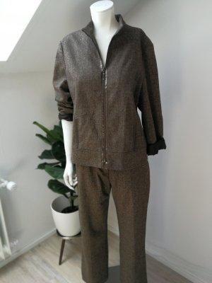 Vintage Tailleur-pantalon brun noir