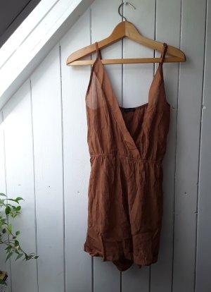 Brauner Jumpsuit von Zara