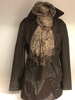 adessa Krótki płaszcz czarno-brązowy