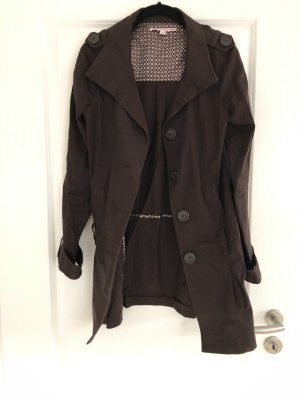 Brauner kurzmantel Trenchcoat, sehr eleganter Schnitt Gr. 36