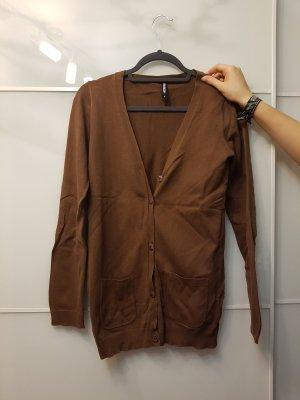 Brauner langer Cardigan