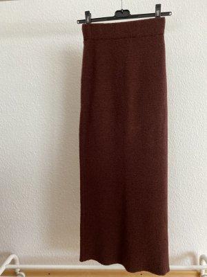 Connemara Jupe tricotée brun-cognac laine