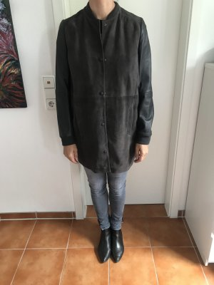 Brauner Leder Mantel
