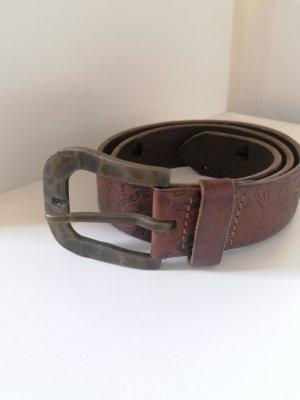 Miss Sixty Cinturón de cuero color oro-marrón