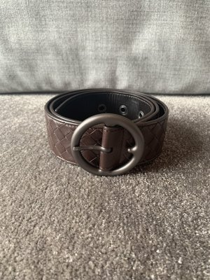 Bottega Veneta Leather Belt dark brown
