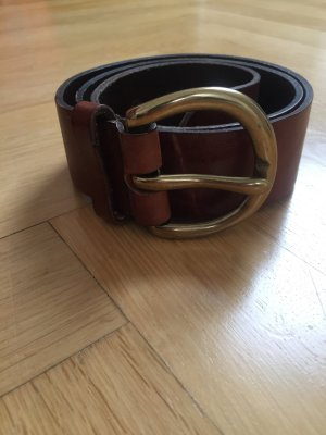 Hallhuber Leather Belt brown