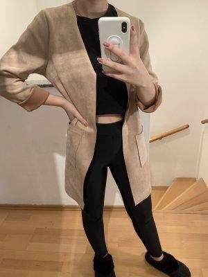 Brauner Long Blazer