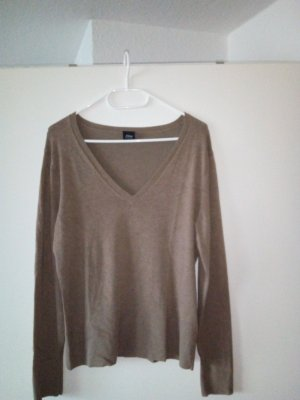 Anastacia by s.Oliver V-Neck Sweater grey brown-light brown viscose