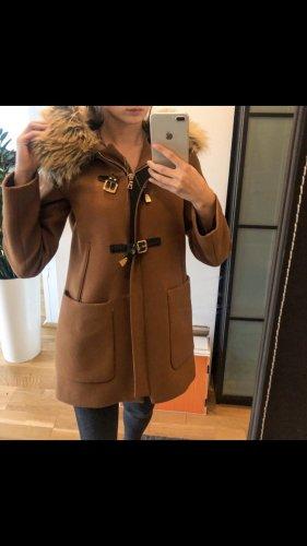 Zara Manteau à capuche brun
