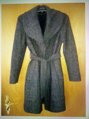 Brauner Mantel H&M mit Wolle, Gr. 36