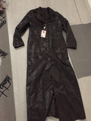 Abrigo largo marrón oscuro