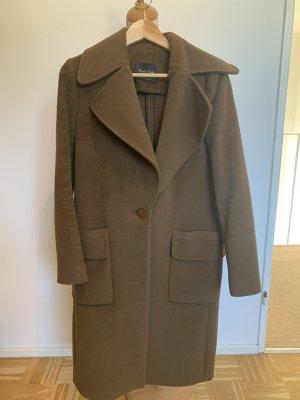 Massimo Dutti Manteau en laine marron clair-brun