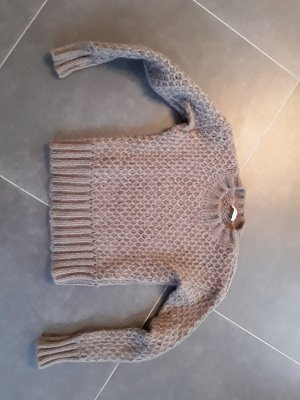 Knitted Sweater grey brown mohair