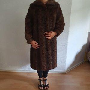 Manteau de fourrure brun-cognac