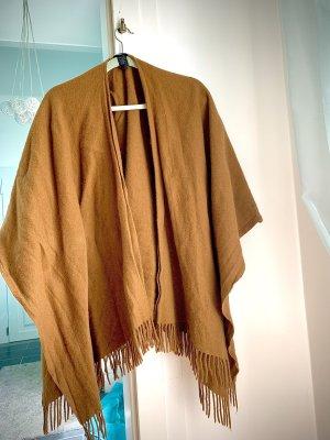 Hallhuber Poncho marrón-marrón claro