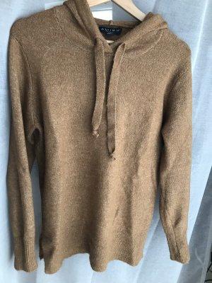 Amisu Sweter z dzianiny brąz Tkanina z mieszanych włókien