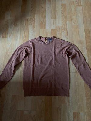 Brauner Pullover mit Glitzer Details