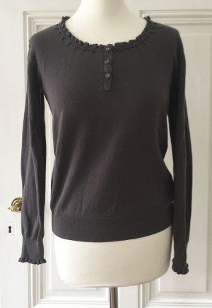 Brauner Pullover mit Rüschen von Jette
