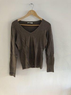 Brauner Pullover von More&More Größe 38