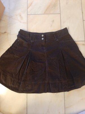 Esprit Plaid Skirt dark brown