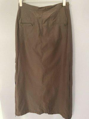 Hirsch Maxi Skirt bronze-colored-light brown cotton